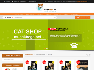 Spletna trgovina CAT SHOP